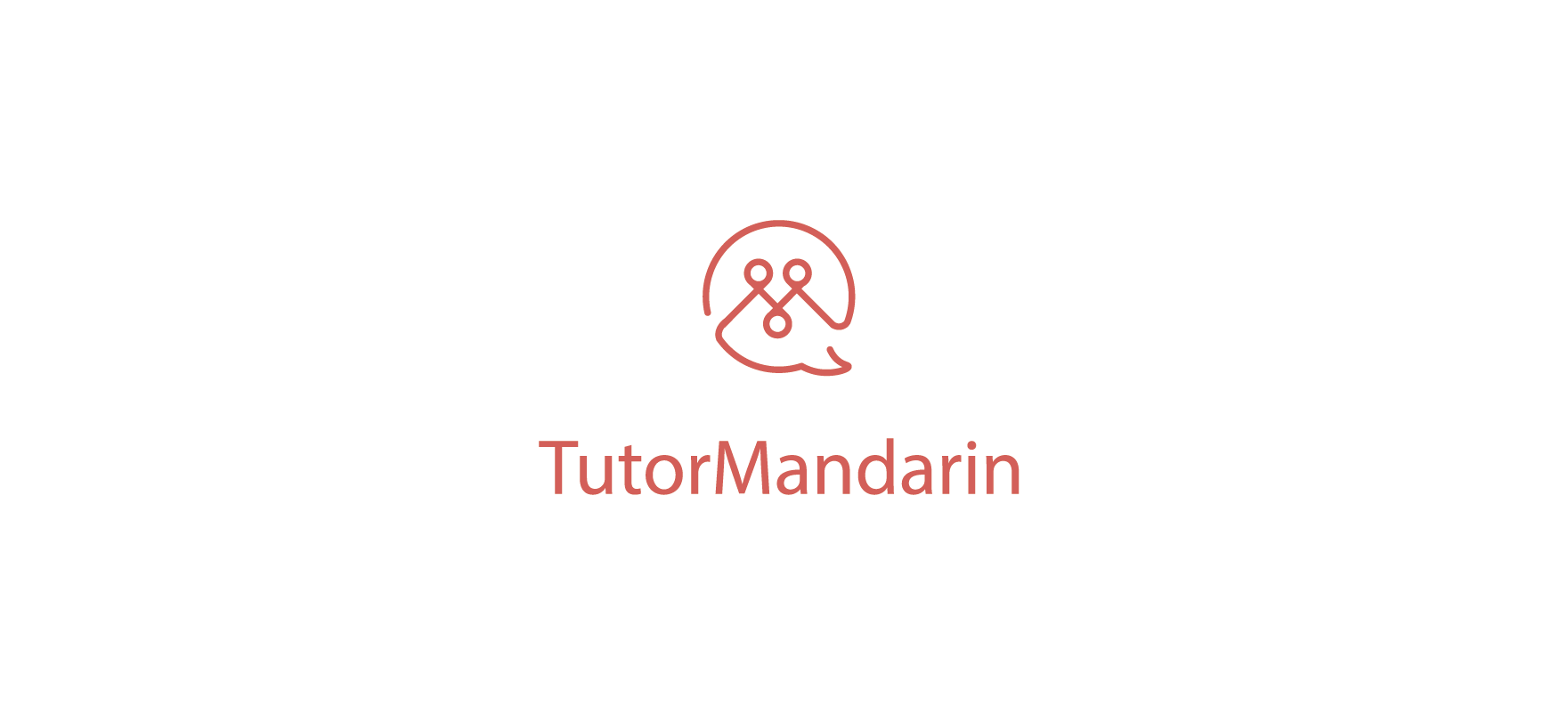 TutorMandarin Press Kit - Standing logo in red