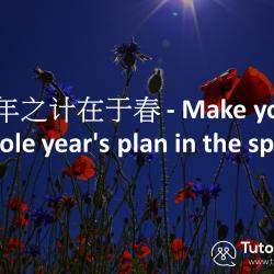 Make your whole year's plan in Spring/ tutormandarin