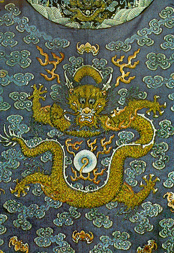 The Chinese mythology of the dragon and the fiery pearl