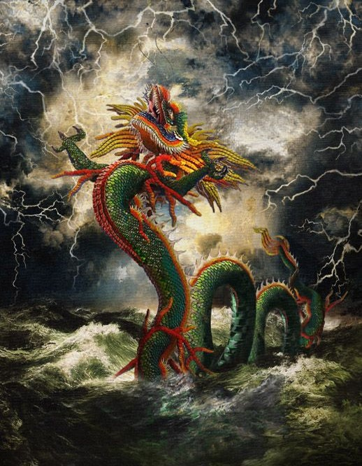 The chinese mythology of weather controlling dragon