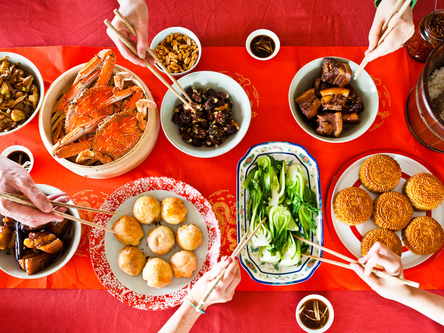 Image result for beautiful dinner during mid autumn festival