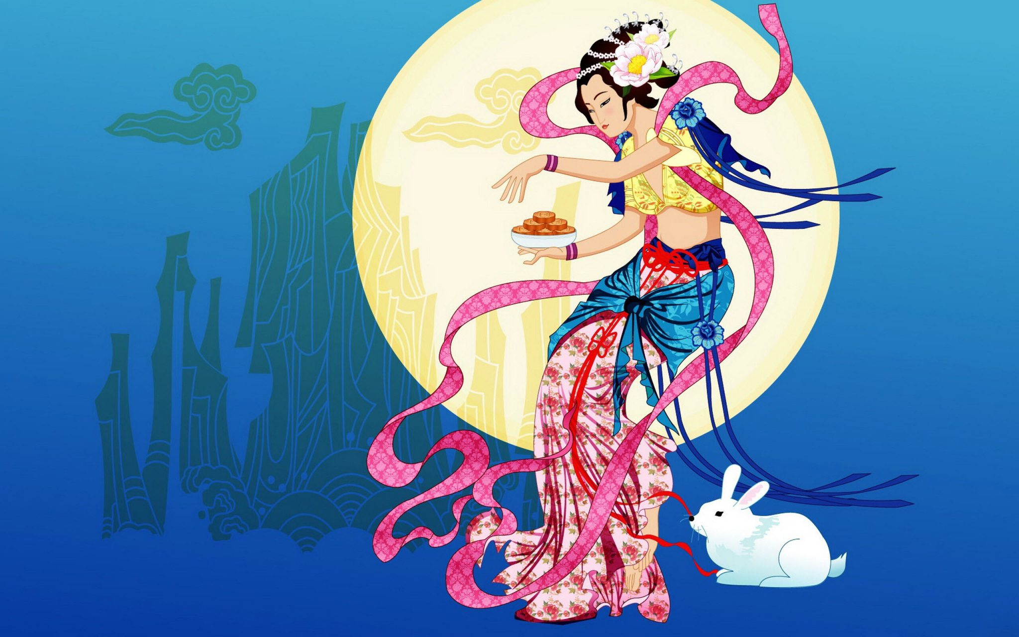 Chang-e from the chinese moon festival legend