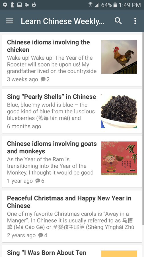 Learn to read Chinese app Learn Chinese Daily for ios and android