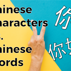 Chinese Characters Vs. Chinese Words
